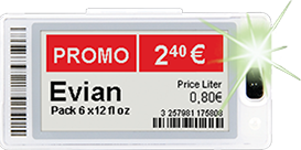 Pricer SmartTAG HD Medium Red with SmartFlash